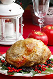 Baked pork with dried plums Royalty Free Stock Photo
