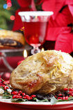 Baked pork with dried plums Stock Photos