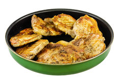 Baked pork in a frying pan Royalty Free Stock Photography