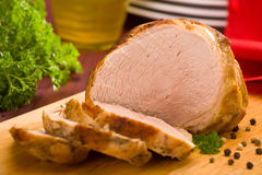 Baked pork ham Stock Photography