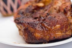 Baked pork meat. Royalty Free Stock Image