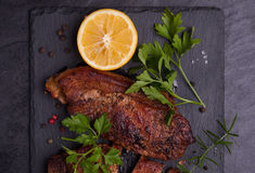 Baked pork meat Royalty Free Stock Photography