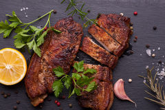 Baked pork meat Stock Photo