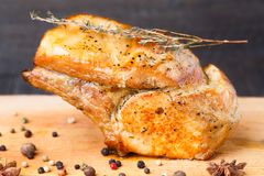 Baked pork rib chop Royalty Free Stock Image