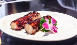 Baked pork ribs. Royalty Free Stock Photos