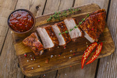 Baked pork ribs Royalty Free Stock Photo