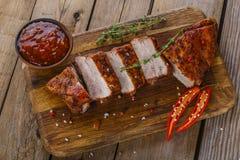 Baked pork ribs Royalty Free Stock Photo