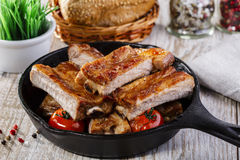Baked pork ribs Stock Photos