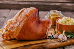 Baked pork shank Royalty Free Stock Photo