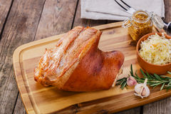 Baked pork shank Royalty Free Stock Photo