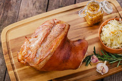 Baked pork shank Stock Photos