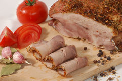 Baked pork shoulder Royalty Free Stock Photos
