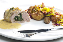 Baked pork tenderloin Royalty Free Stock Photography