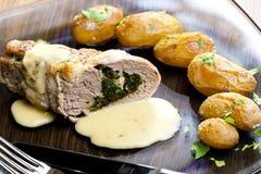 Baked pork tenderloin Stock Photos