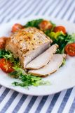 Baked pork with vegetables royalty free stock images