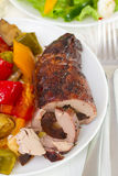Baked pork and vegetables Royalty Free Stock Photos