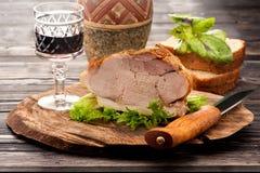 Baked pork Stock Image