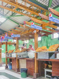 Baked Porks at Traditional Food Court in Riobamaba Ecuador Stock Photo
