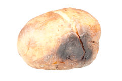 Baked potato. Over a white background Royalty Free Stock Photography