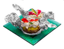 Baked potato Royalty Free Stock Photo