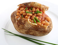 Baked potato and beans Royalty Free Stock Photo
