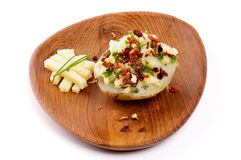 Baked Potato with Cheese Stock Images