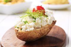 Baked potato and cheese Royalty Free Stock Photo