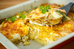 Baked potato with cheese Royalty Free Stock Images