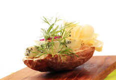 Baked potato and cheese Royalty Free Stock Image