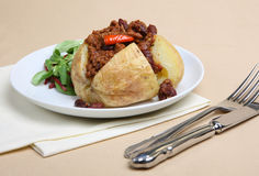 Baked Potato with Chilli Stock Image