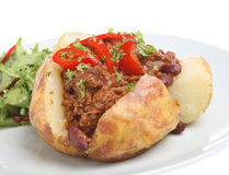 Baked Potato with Chilli Stock Images