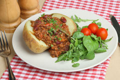 Baked Potato with Chilli Con Carne Royalty Free Stock Photo
