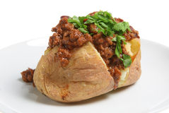 Baked Potato & Chilli con Carne Stock Photography
