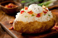 Baked Potato Stock Photo