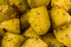 Baked potato with dill royalty free stock photos