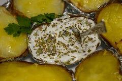Baked potato. Royalty Free Stock Photos