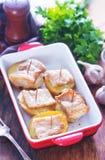 Baked potato with lard Royalty Free Stock Photo