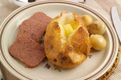 Baked potato meal Stock Photos