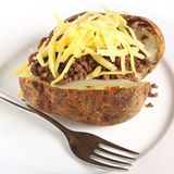 Baked potato mince and cheese Stock Images