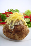 Baked potato with mushroom and cheese Stock Photos