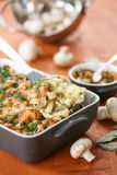 Baked potato with mushrooms and cheese Royalty Free Stock Images