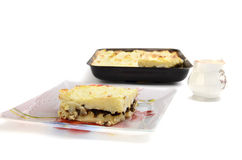 Baked potato pudding Stock Photography