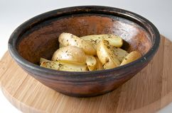 Baked potato with rosemary Royalty Free Stock Images