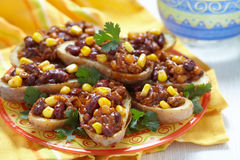 Baked Potato Skins Stock Image