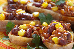 Baked Potato Skins Stock Image