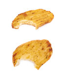 Baked potato slice composition, isolated Royalty Free Stock Photos