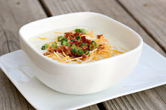 Baked Potato Soup Stock Image