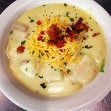Baked Potato Soup royalty free stock photography
