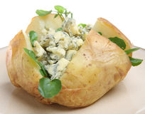 Baked Potato with Stilton Cheese Stock Images