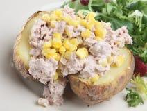 Baked Potato with Tuna Stock Photography